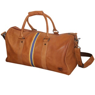LEATHER CREST HOLDALL