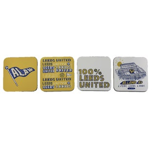 LUFC 4 PACK COASTERS