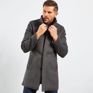 BLACK LABEL LONG DRESS COAT