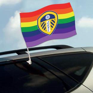LUFC PRIDE CAR FLAG