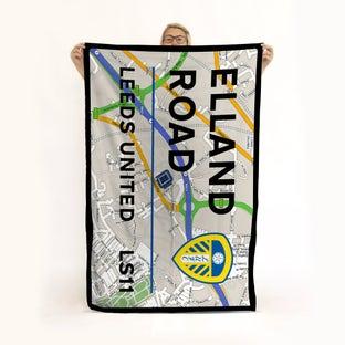 ELLAND ROAD MAP TOWEL